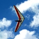 Hang Glider in flight from Mount Tamborine
