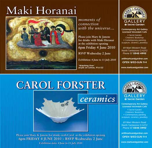 Maki Horanai & Carol Forster in exhibition Tamborine Mountain