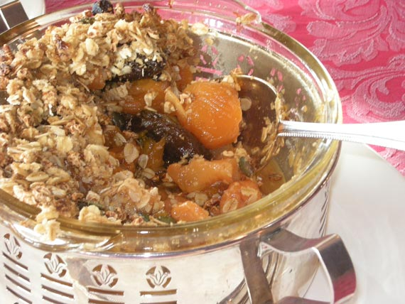 Stewed Fruit Crumble