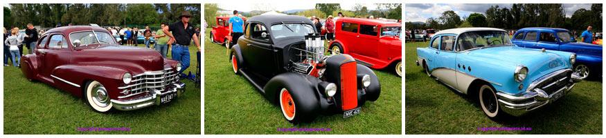 Cars from Garterbelts and Gasoline Festival Mount Tamborine