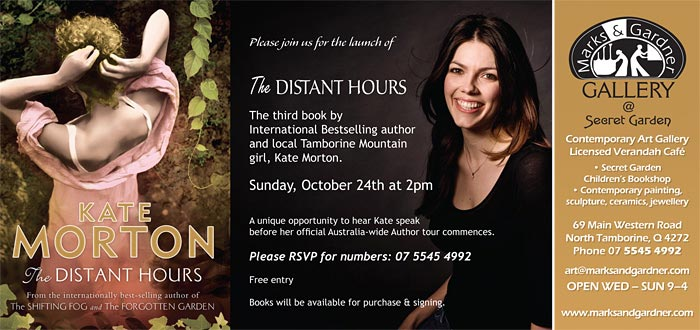 Meet Kate Morton at Marks & Gardner on Mt Tamborine