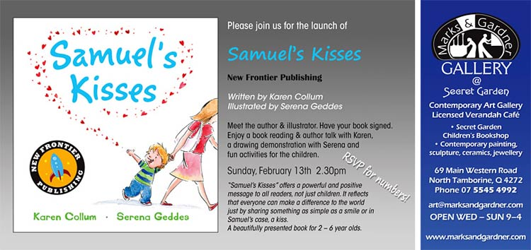 Invite Childrens Book Launch Marks and Gardner Gallery