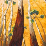 Annie Franklin Painting from the Drift Exhibition on Mount Tamborine