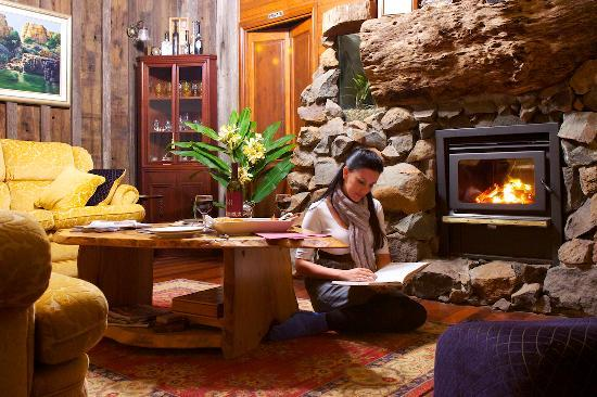 Roaring fire at Tamborine Mountain Bed and Breakfast