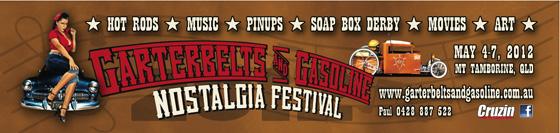 Poster Garterbelts & Gasoline Festival 2012 Mt Tamborine