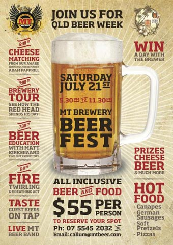 Poster for Mount Tamborine Beer Fest