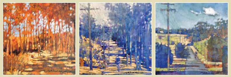 Pictures from David Hinchliffe New Exhibition Mt Tamborine