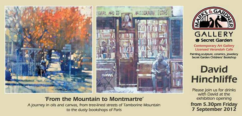 Invite To David Hinchliffe New Exhibition Mt Tamborine