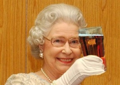 The Queen Celebrating