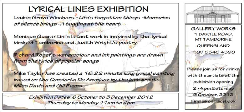Opening Lyrical Lines Exhibition at Gallery Works Mt Tamborine