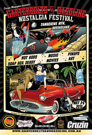 Poster for the Garterbelts and Gasoline Festival