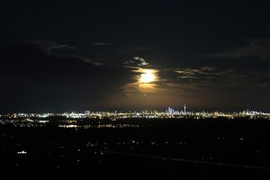 Moonlit Night and Gold Coast City Lights from TMBB