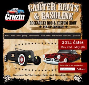Poster Garterbelts and Gasoline Festival 2014