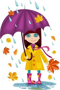 Girl in Rain with Umbrella TMBB