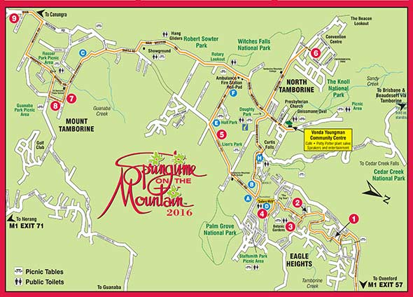 Map Springtime on the Mountain 2016 Festival