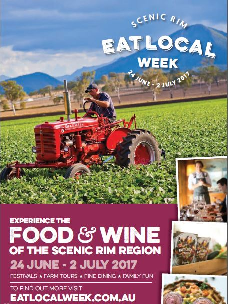 Poster Scenic Rim Eat Local Week 2017