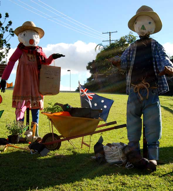 Scarecrows at the Tamborine Mountain Festival