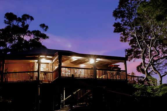 Tamborine Mountain Bed and Breakfast Exterior at Twilight